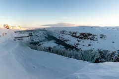 Island - Golden Circle Tour. Am Gullfoss.