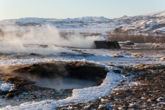 Island - Golden Circle Tour. Der Litli Geysir.